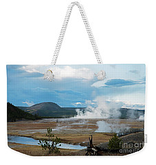 Midway Geyser Area Weekender Tote Bag by Cindy Murphy - NightVisions