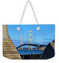 Mighty Mac From Michilimackinac Weekender Tote Bag by Keith Stokes