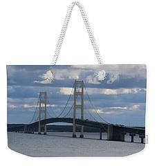 Mighty Mac The Mackinac Bridge Weekender Tote Bag