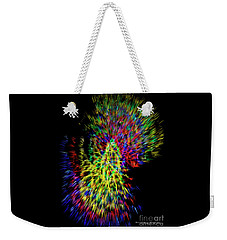 Weekender Tote Bag featuring the photograph Migraine Scotomas by Diane E Berry