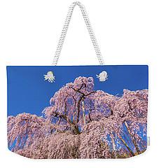Weekender Tote Bag featuring the photograph Miharu Takizakura Weeping Cherry32 by Tatsuya Atarashi