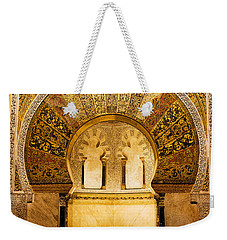 Mihrab In The Great Mosque Of Cordoba Weekender Tote Bag