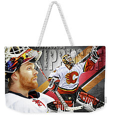 Miikka Kiprusoff Weekender Tote Bag by Don Olea