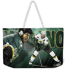 Weekender Tote Bag featuring the digital art Mike Modano by Don Olea