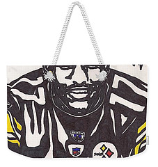 Weekender Tote Bag featuring the drawing Mike Wallace 1 by Jeremiah Colley