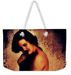 Weekender Tote Bag featuring the digital art Mikki 1 by Mark Baranowski