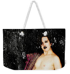 Weekender Tote Bag featuring the digital art Mikki 2 by Mark Baranowski