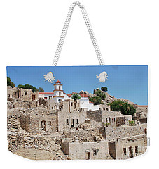 Mikro Horio Village On Tilos Weekender Tote Bag