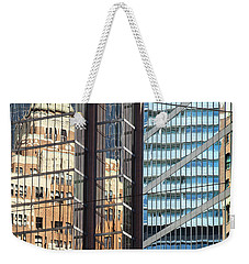 Weekender Tote Bag featuring the photograph Miksang 10 Reflect by Theresa Tahara