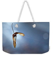 Weekender Tote Bag featuring the photograph Miksang 3 Maple Seeds by Theresa Tahara