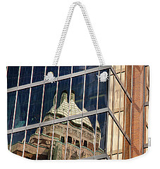 Weekender Tote Bag featuring the photograph Miksang 9 City by Theresa Tahara
