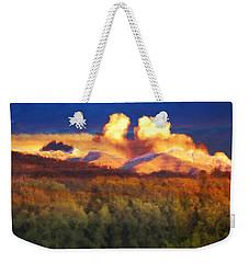 Milagro Cloud Theater Over Truchas Peaks Nm Weekender Tote Bag