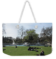Mild Summer Afternoon At Hyde Park Corner - London 2016 Weekender Tote Bag