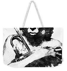 Miles Davis Bw  Weekender Tote Bag by Mihaela Pater