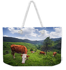 Weekender Tote Bag featuring the photograph Milka by Bess Hamiti