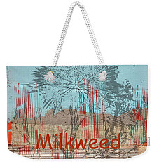 Milkweed Collage Weekender Tote Bag by Cynthia Powell