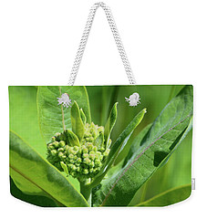Weekender Tote Bag featuring the photograph Milkweed Flower  by Lyle Crump