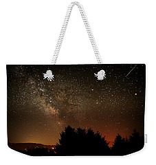 Milky Way And Falling Star Weekender Tote Bag by Katie Wing Vigil