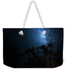 Weekender Tote Bag featuring the photograph Milky Way At Big Cypress National Preserve by Mark Andrew Thomas