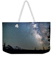 Weekender Tote Bag featuring the photograph Milky Way At Mckenzie Pass by Cat Connor