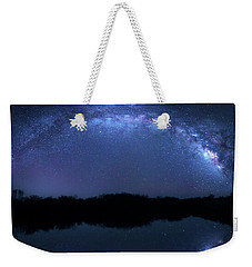 Weekender Tote Bag featuring the photograph Milky Way At Mrazek Pond by Mark Andrew Thomas