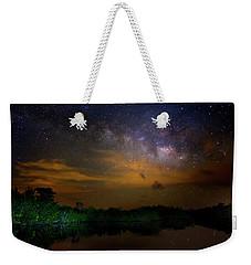Milky Way Fire Weekender Tote Bag by Mark Andrew Thomas