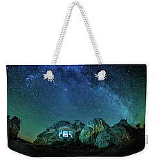 Weekender Tote Bag featuring the photograph Milky Way by Okan YILMAZ
