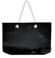 Milky Way Over Campground Weekender Tote Bag by Anne Rodkin