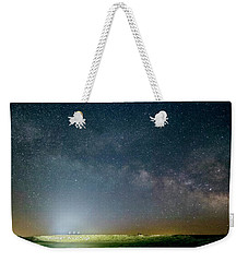 Milky Way Over Christ Pilot Me Hill Weekender Tote Bag by Rob Graham