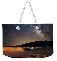 Weekender Tote Bag featuring the photograph Milky Way Over Mesquite Dunes by Darren White