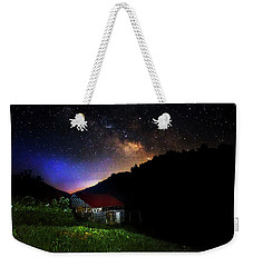 Milky Way Over Mountain Barn Weekender Tote Bag