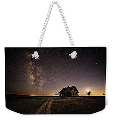 Milky Way Over Prairie House Weekender Tote Bag
