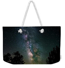 Milky Way Over Rocky Mountains Weekender Tote Bag