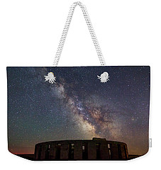 Weekender Tote Bag featuring the photograph Milky Way Over Stonehendge by Cat Connor