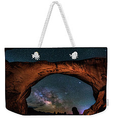 Milky Way Under The Arch Weekender Tote Bag