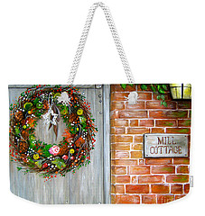 Weekender Tote Bag featuring the painting Mill Cottage by Patrice Torrillo
