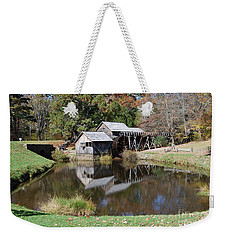 Weekender Tote Bag featuring the photograph Mill Reflections by Eric Liller