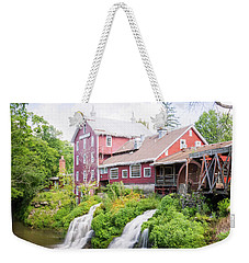 Mill Water Falls Hdr Weekender Tote Bag