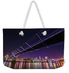 Millennium Bridge At Night 2 Weekender Tote Bag