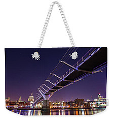 Millennium Bridge At Night  Weekender Tote Bag
