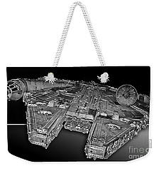 Millennium Falcon Attack Weekender Tote Bag by Kevin Fortier
