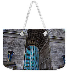 Millennium Gate Triumphal Arch At Atlantic Station In Midtown At Weekender Tote Bag by Alex Grichenko