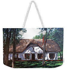 Weekender Tote Bag featuring the painting Miller Homestead by Tom Roderick