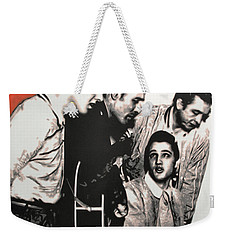 Million Dollar Quartet Weekender Tote Bag by Luis Ludzska