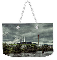 Weekender Tote Bag featuring the photograph Milltown by Guy Whiteley