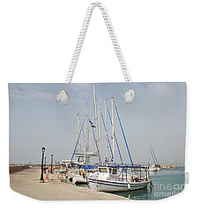 Milos Harbour On Agistri Weekender Tote Bag