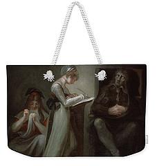 Milton Dictating To His Daughter Weekender Tote Bag