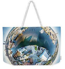 Weekender Tote Bag featuring the photograph Milwaukee And Kk Rivers by Randy Scherkenbach