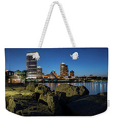 Milwaukee At The Lake Weekender Tote Bag