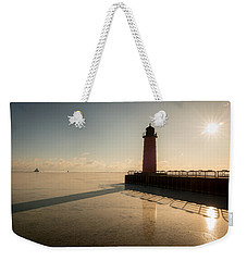 Milwaukee Frozen Lighhtouse Weekender Tote Bag by James Meyer